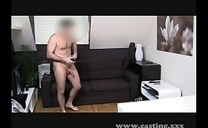 Casting creampie freak-out!