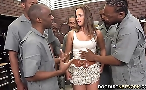 Amirah adara sucks an entire complement of black guys