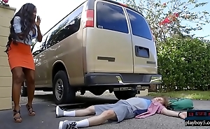 Huge tits treacherous milf causes increased by solves an mishap